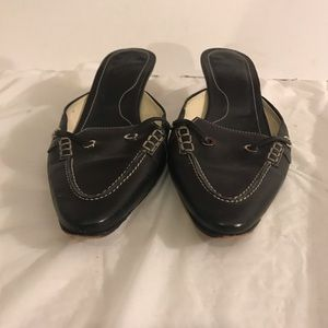 TOD's Black Leather Mules 9